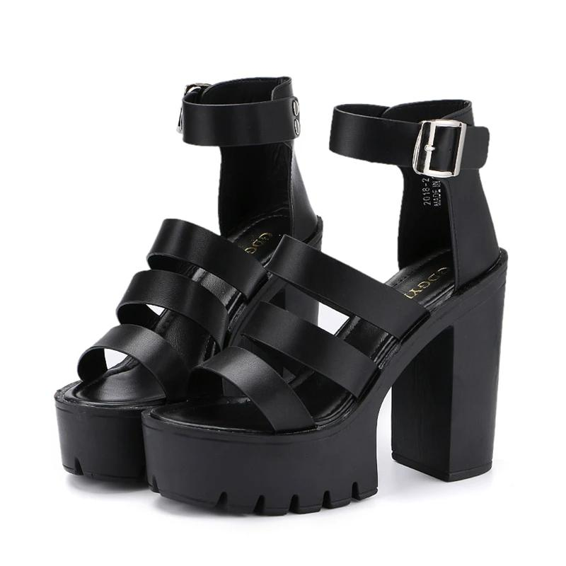 Thick Heel Wedge Platform Sandals