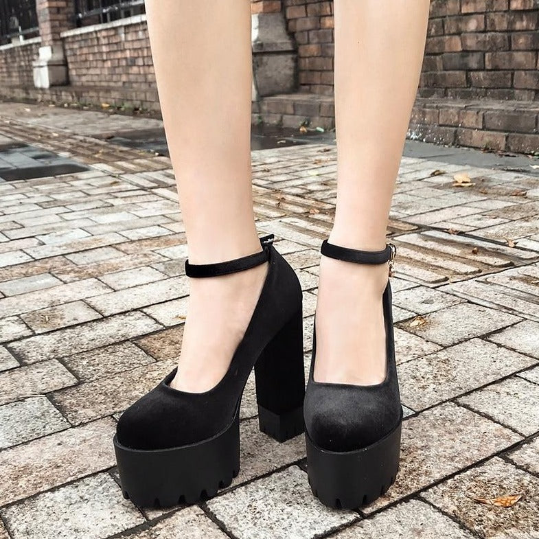 Thick High Heel Platform Shoes