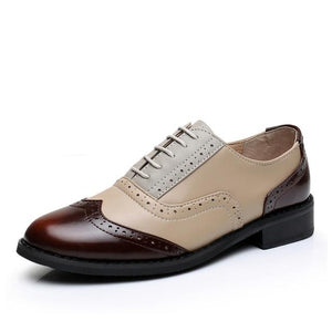 Open image in slideshow, Genuine Leather Women's Oxford Shoes