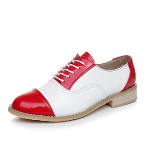 Genuine Leather Women's Oxford Shoes