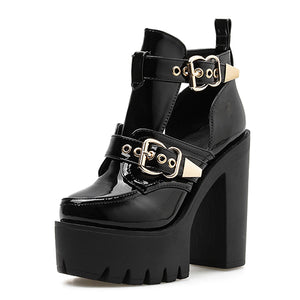 Open image in slideshow, Buckle Ankle Boots