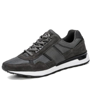 Open image in slideshow, Leather & Mesh Running Shoes