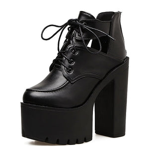 Open image in slideshow, Platform Thick Heel Shoes