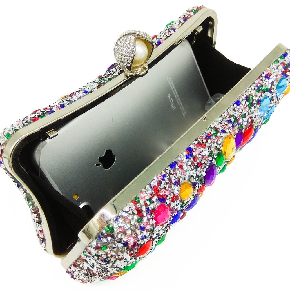 Multicolor Beaded Evening Bag