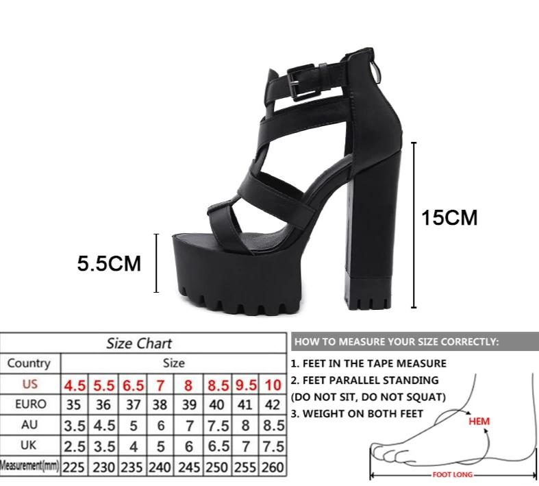 Ankle Strap High Heel Platform Sandals