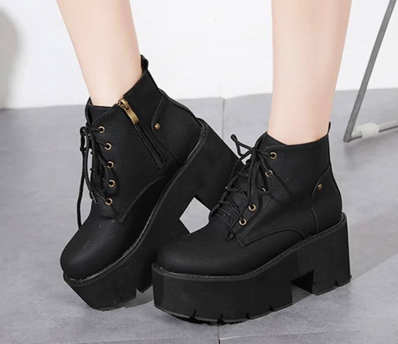 Chunky Platform Ankle Boots