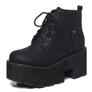 Open image in slideshow, Chunky Platform Ankle Boots