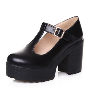 Open image in slideshow, T-Strap Mary Janes Platform Shoes