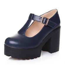 Load image into Gallery viewer, T-Strap Mary Janes Platform Shoes