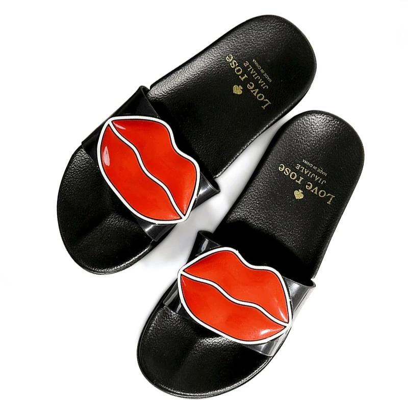 Lips Beach Slippers