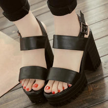 Load image into Gallery viewer, Block Heels Sandals