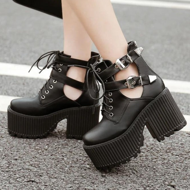 Block Heels Ankle Boots