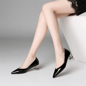 Cow Patent Leather Pumps