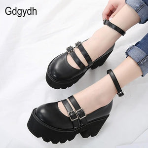 Ankle Strap Chunky Platform Creepers