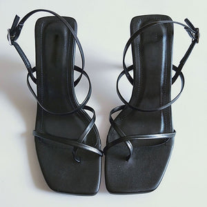 Open image in slideshow, Square Toe Sandals