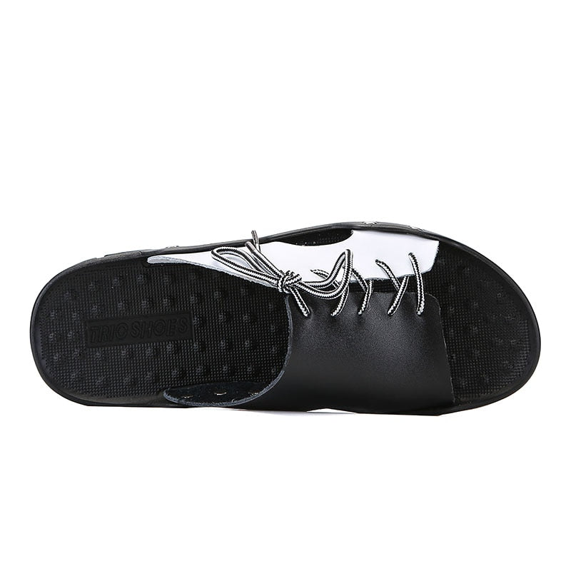 Genuine Leather Men Slippers