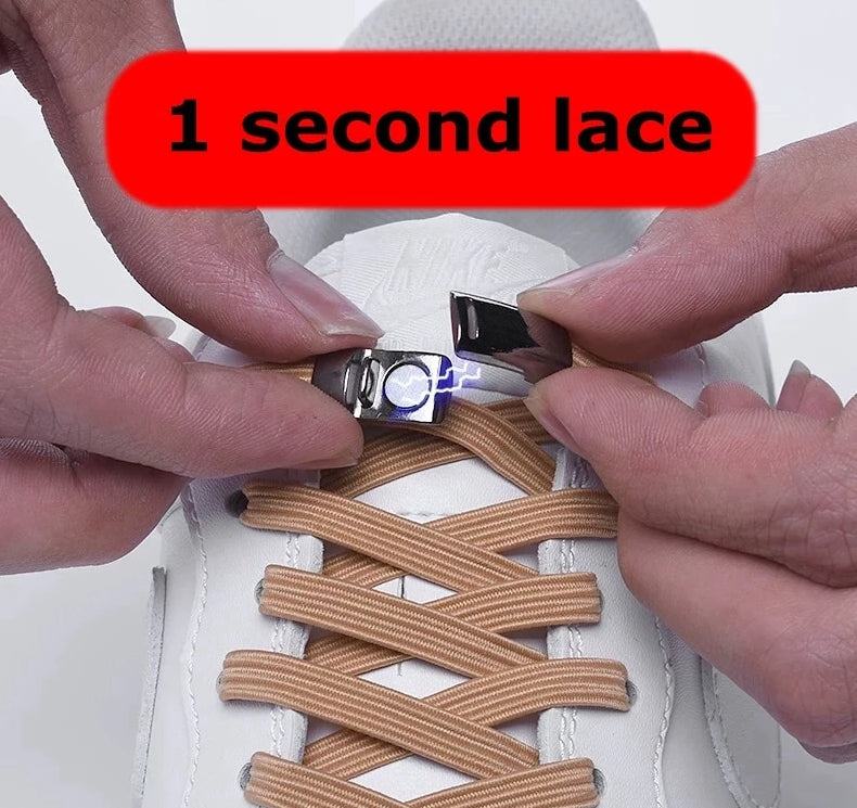 Quick No Tie Elastic Magnetic Shoelaces