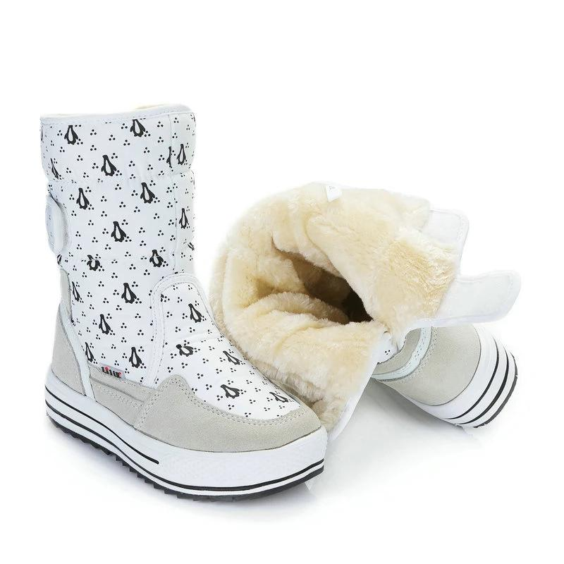 Thick Fur Penguin Winter Boots