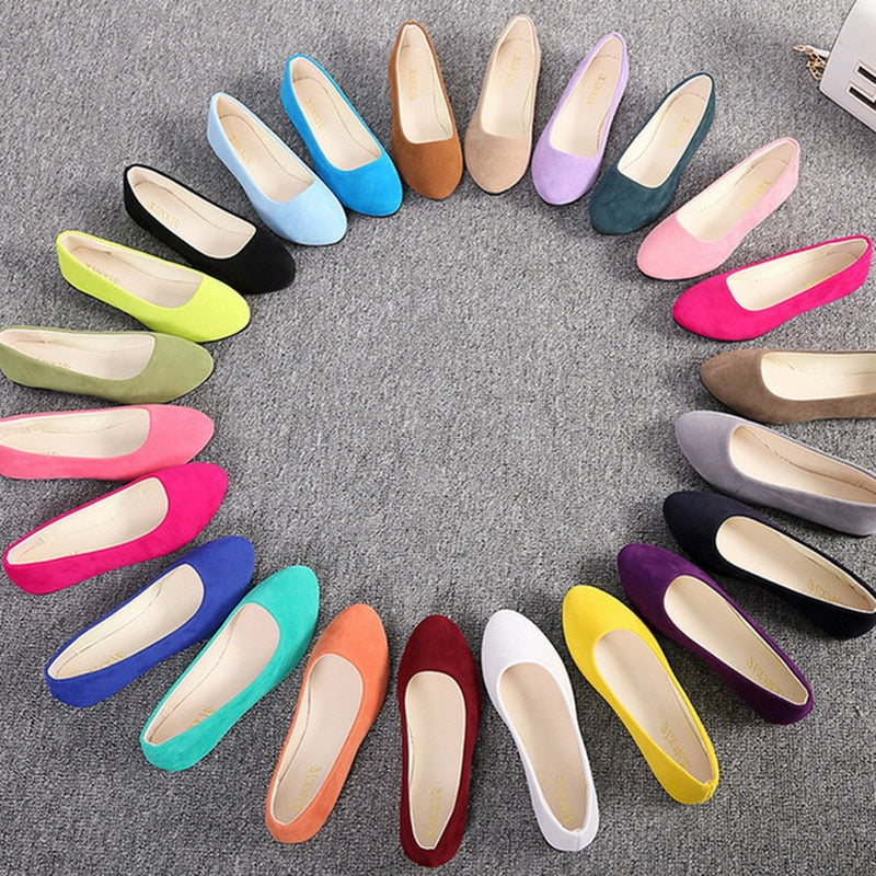 Candy Color Suede Loafers