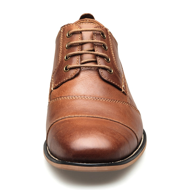 Genuine Leather Handmade Lace-Up Shoes