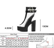 Load image into Gallery viewer, Transparent Peep Toe Sandals