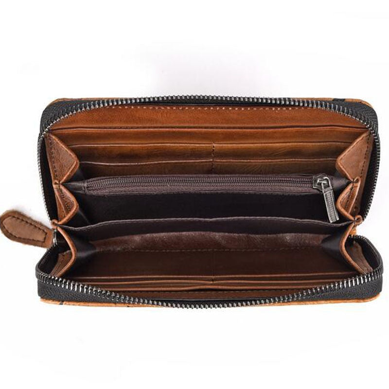 Embossed Genuine Leather Wallet