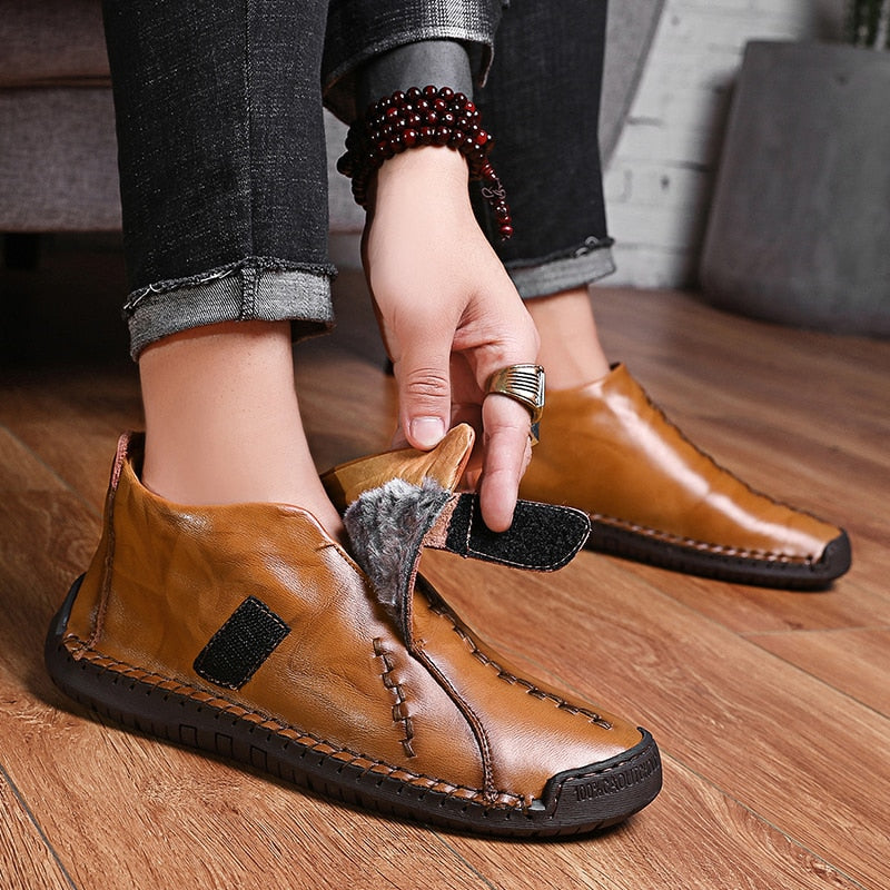 Men's Split Leather Ankle Boots