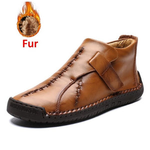 Open image in slideshow, Men's Split Leather Ankle Boots