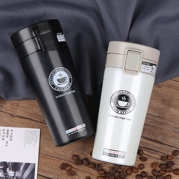 Vacuum Thermol Bottle Thermocup Coffee 380ml Wall Travel Mug Cup Double Steel Hot Quality Tea Flasks Car Thermo Stainless nP0wk8O