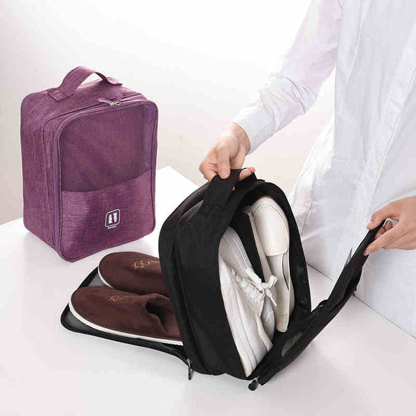Waterproof Portable Travel Organizer - Shoe Storage, Cable Case & Cosmetic Bag