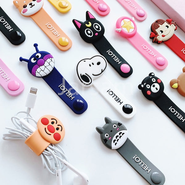 Cartoon Cable Organizer (Short Version) - For headphone & charging leads