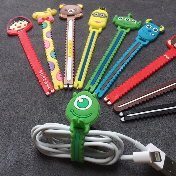 Cartoon Cable Organizer (Long Version) - For headphone & charging leads