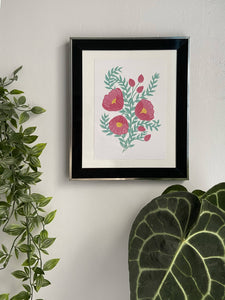 Fuchsia Pink Floral Print - Lucy Hunter Illustration - Made In Folkestone