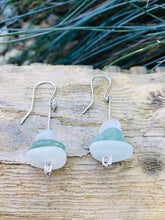 Load image into Gallery viewer, Stacked Folkestone Sea Glass Earrings - Silver By The Sea - Made In Folkestone