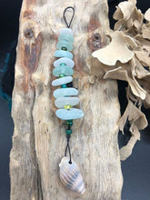 Load image into Gallery viewer, 10 Sea Glass Pieces Sun Catcher - Silver By The Sea - Made In Folkestone