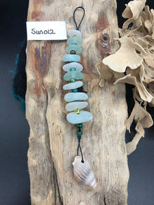 10 Sea Glass Pieces Sun Catcher - Silver By The Sea - Made In Folkestone
