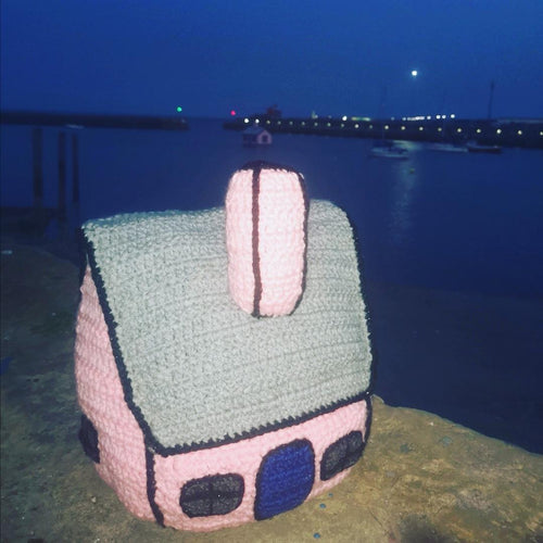 Pink Crochet Richard Woods Style House - Rachel Ranford