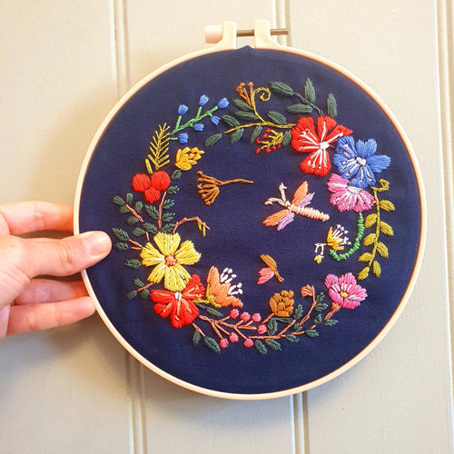 Floral Crown Embroidery Hoop - That Embroidery Girl - Made In Folkestone