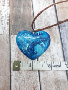 Handmade Heart Pendant - Natural Sparkes - Made In Folkestone