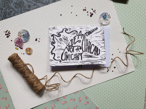 Be A Unican Not A Unican't greetings card - PandaBlue Creations