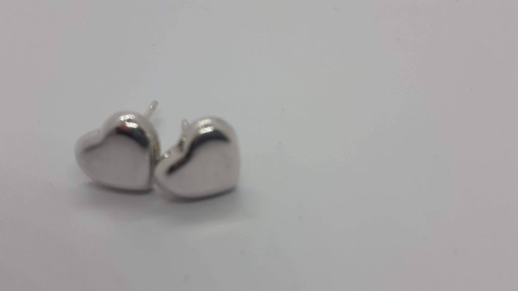 Sterling Silver Heart Studs - Jewellery By Rebecca