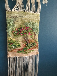 'Rambling Rose' Weaving With Driftwood - Yarncrafts - Made In Folkestone