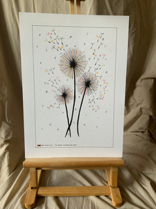 Dandelion 'Blowing in the wind' Print - Iron Fist Art - Made In Folkestone