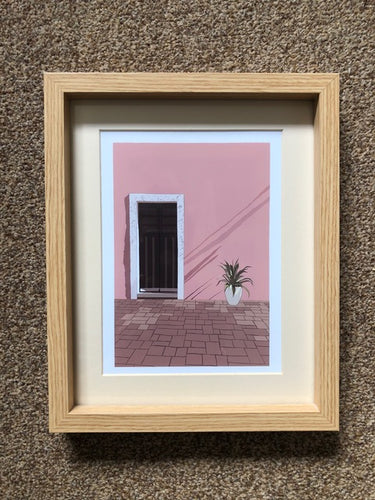 Mexican Door Illustration - Silver Stitch - Made In Folkestone