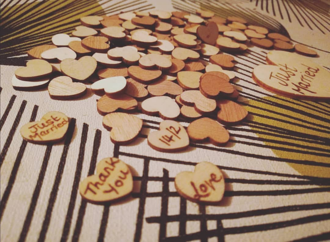 Just Because Wooden Hearts Pack of 100 - Mishi Makes - Made In Folkestone
