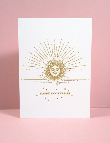 'Happy Anniversary' Greetings Card - Luna May