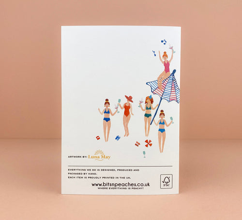 'Cocktail Gals' Greetings Card - Luna May