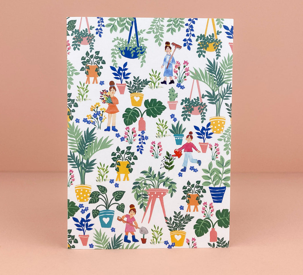 'Plant Lovers' Greetings Card - Luna May