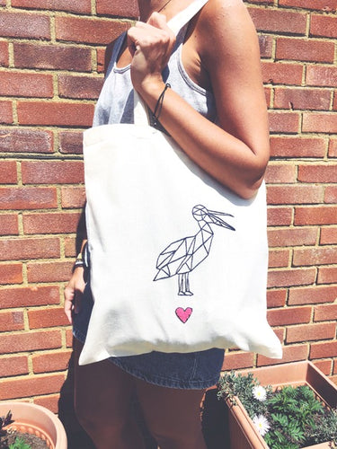Handmade Embroidered Tote Bag  - Silver Stitch - Made In Folkestone
