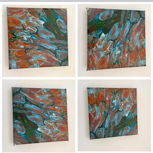 Original Abstract Art Fluid Acrylic Canvas - Mandy Aldridge - Made In Folkestone